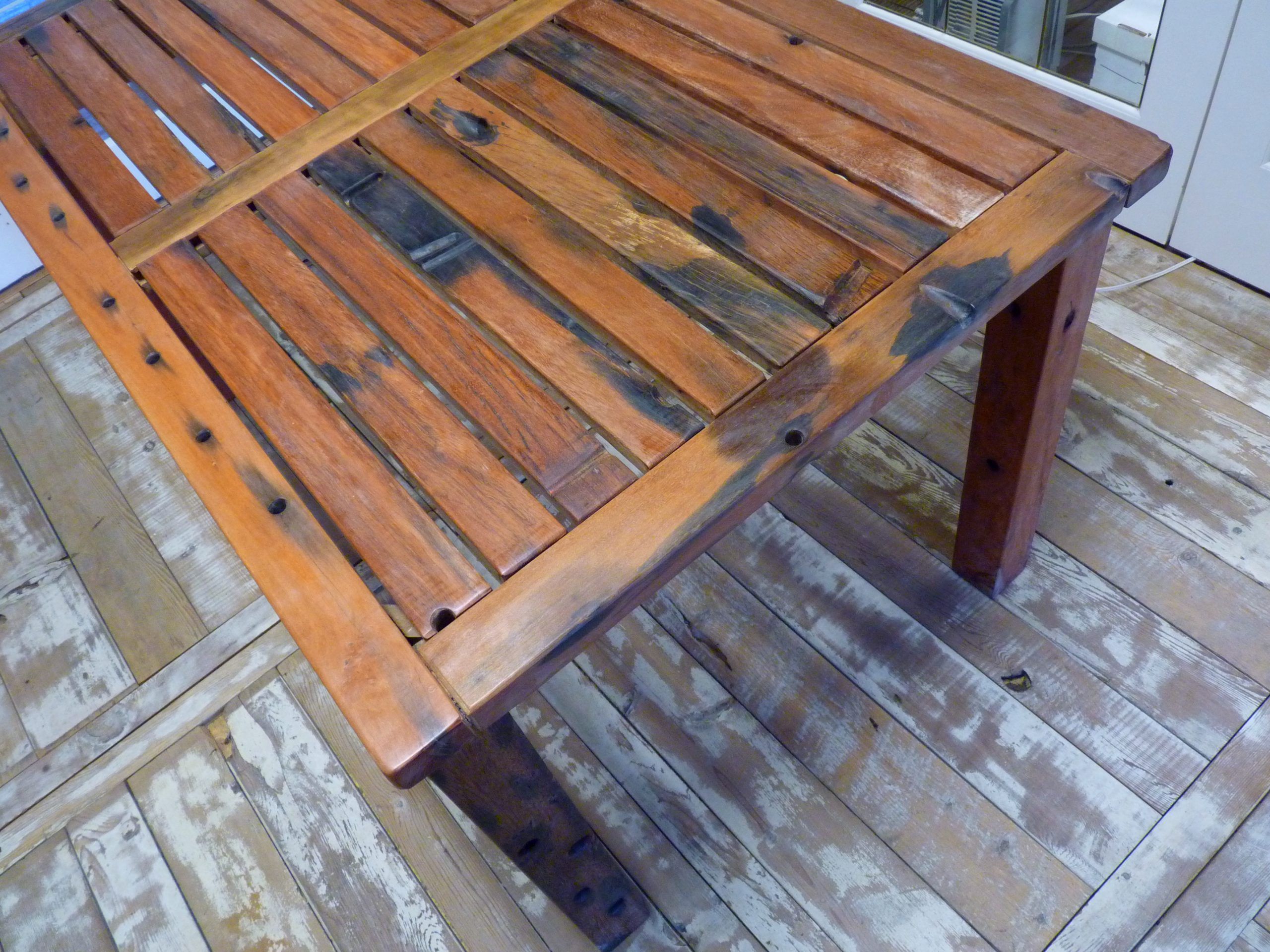 C3011KD-3 Reclaimed Old Boat Wood Furniture