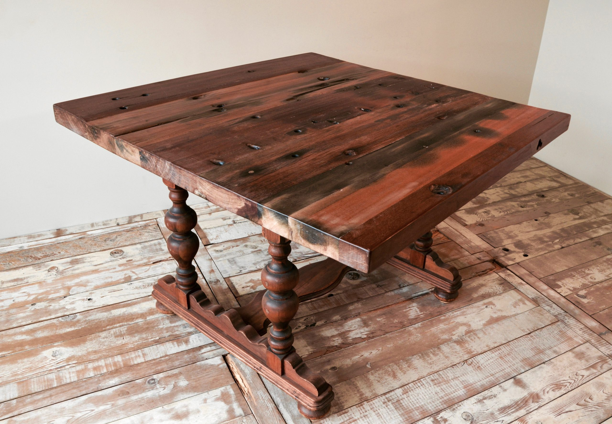 PS110101-TOP-CB-1 Reclaimed Old Boat Wood Furniture