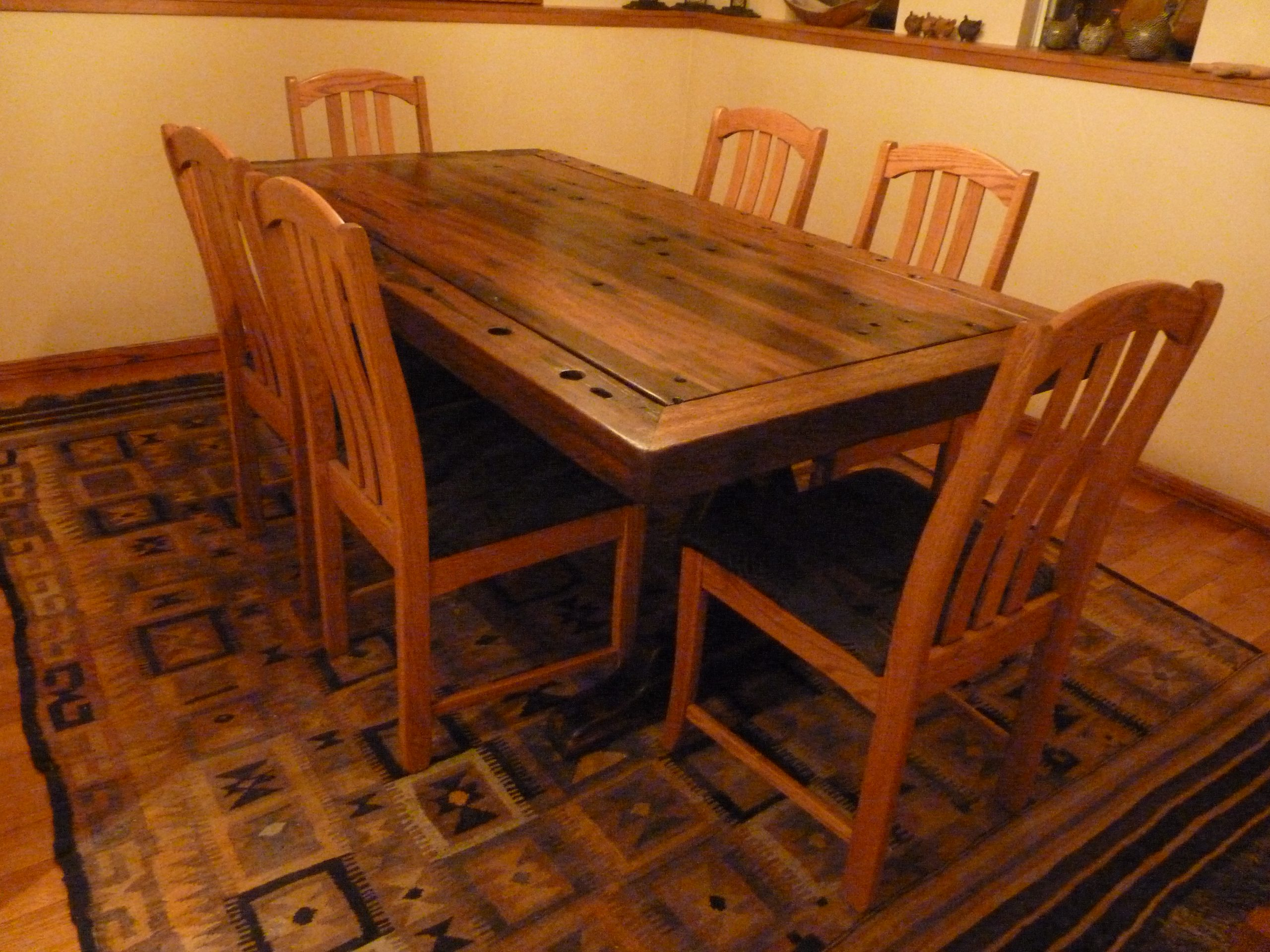 PS9404-TOP-CC-CB-1 Reclaimed Old Boat Wood Furniture