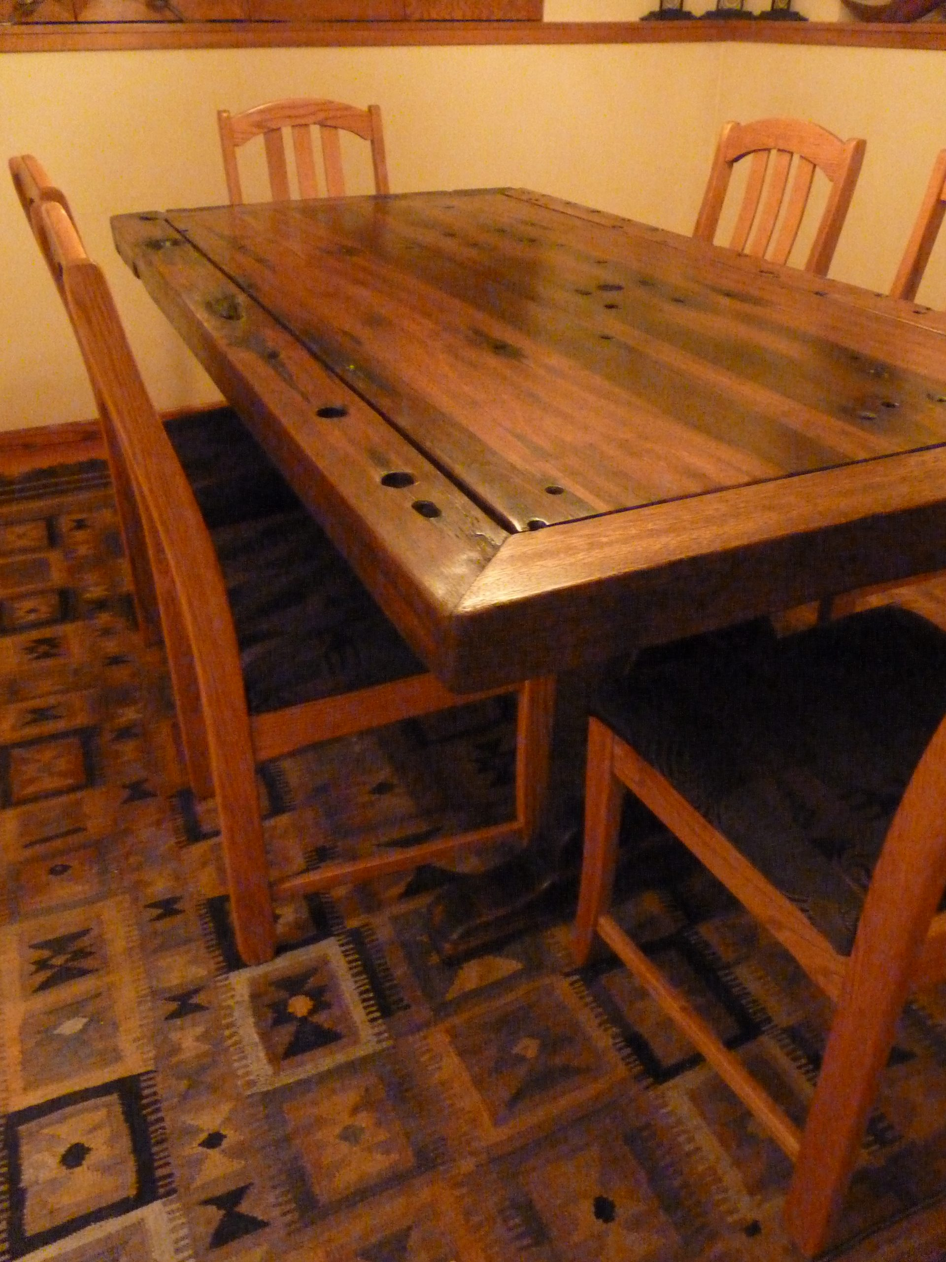 PS9404-TOP-CC-CB-2 Reclaimed Old Boat Wood Furniture