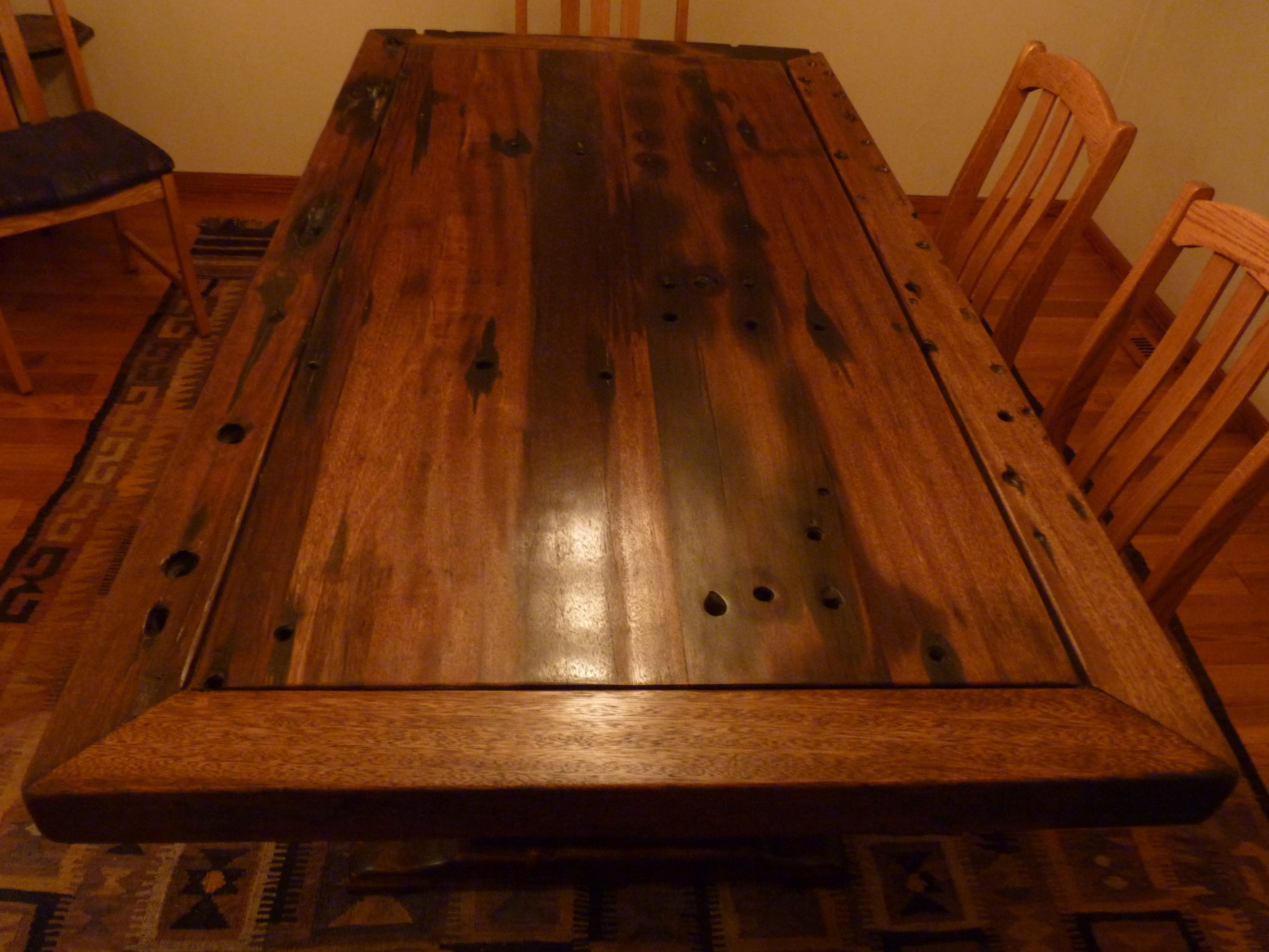 PS9404-TOP-CC-CB-5 Reclaimed Old Boat Wood Furniture